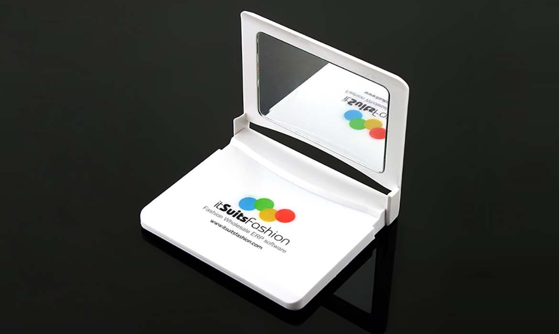Batterie de secours Porte-téléphone + miroir de maquillage - PUB025